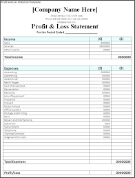 Samples Of Profit And Loss Statements For Small Business Simple Business Profit And Loss Statement 4 Business Profit