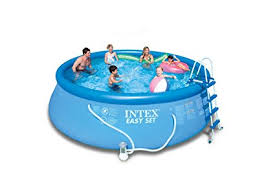 intex easy set pool. Intex Easy Set Pool Set, 15-Feet By 48-Inch, Blue