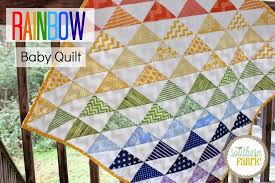 Rainbow Baby Quilt Top Tutorial for Beginners | Southern ... & We are excited to share this tutorial with you because it's so cute yet so  simple. If you're a beginner, I know it may be intimidating to make a quilt  but ... Adamdwight.com