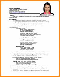 Resume Professional Resume Outline Template Easy Image Design