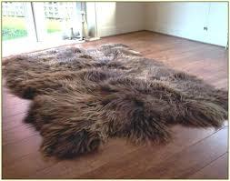 large sheepskin area rug large brown sheepskin rug home design ideas large brown sheepskin rug large
