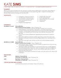 Social Work Internship Resume Exle Of Work Resume Akersart Us