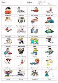 hobbies for kids. esl hobbies - recherche google for kids