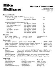 Master Electrician Resume Sidemcicek Com