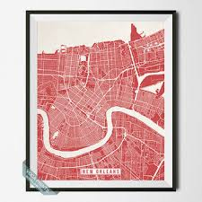 new orleans print louisiana poster new orleans poster new orl on map of new orleans wall art with shop new orleans louisiana on wanelo