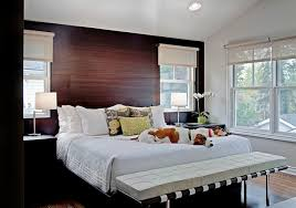 View in gallery Solid rosewood paneling for the bedroom accent wall