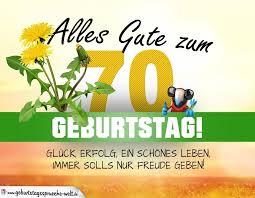 Spruch Zum 70 Geburtstag Lustig