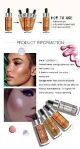 2017 veronni newest makeup cosmetic highlight liquid 6 colors concealer highlighter