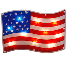 led outdoor decorations lighted wall and window patriotic