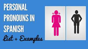 Spanish Subject Pronouns Chart Sentences And Practice