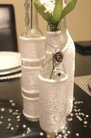 ... Wine Bottle Decorations For Wedding Beautifully Idea 5 DIY Bottles  Wrapped In Lace For Centerpieces Photo ...