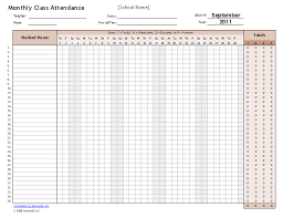 School Attendence Sheet 25 Printable Attendance Sheet Templates Excel Word
