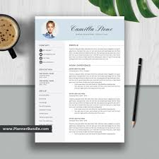 Modern 2020 Resume Simpleresume Template Word Job Cv Template Design Creative And Modern Resume Cover Letter Instant Download For 2019 2020 Professionals Camilla