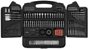 black and decker drill bit set. just in time for father\u0027s day, lowe\u0027s has a great deal on 174 piece drill and drive set. it plethora of different screw-driving bits, as well nut black decker bit set