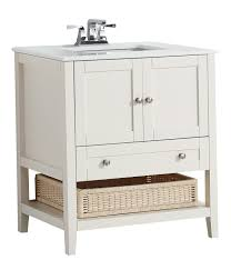 Bathroom Vanity Brooklyn Cape Cod 30 Bath Vanity With White Quartz Marble Top