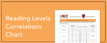 Reading Levels Correlation Chart Lee Low Books