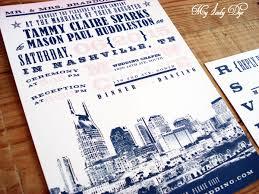 City Skyline Inspired Nashville Wedding Invitation My Lady Dye