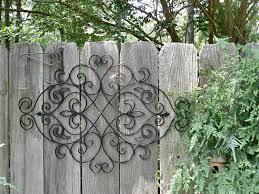 metal patio fence best of metal wall decor fleur de lis patio indoor outdoor wall decor