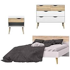Amazon.com: Home Square 3 Piece Bedroom Set of Queen Panel Bed ...