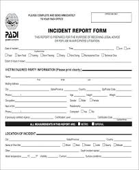 Medical Incident Report Form Template Office Example – Peero Idea