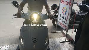 Đèn Led xe máy ánh sáng vàng