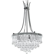 exquisite brushed nickel crystal orb chandelier