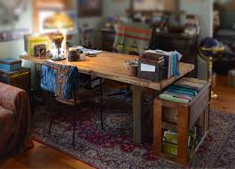 office wood. Rustic Wood Office Desk And File Storage