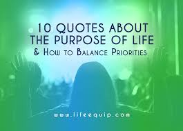 Quotes Purpose Of Life Adorable 48 Purpose Of Life Quotes How To Balance Priorities