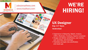 Ux Designer Jobs Hyderabad We Are Recruiting Uxdesigner With 3 7 Yrs Experience In