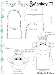 Monkey Template Cut Out Mischievous Crafts For Kids
