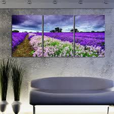 unframed 3 panel lavender fields landscape wall art picture frameless wall paintings modern canvas paintings fashion on lavender fields wall art with unframed 3 panel lavender fields landscape wall art picture
