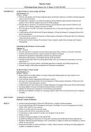 Subcontract Manager Resume Samples Velvet Jobs