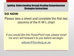 Ppt Igniting Understanding Through Reading Comprehension