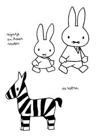 Nijntje En Haar Vader De Zebra Kleurplaten Kleurplaten Dieren