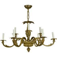 vintage chandelier vintage brass french baroque chandelier sold on ruby lane