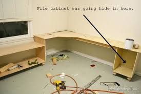 how to build office desk. Build Office Desk File Cabinet Your Own Corner . How To