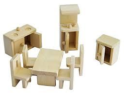 dolls furniture set. Mini Wooden Dollhouse Furniture Set Kitchen Dolls M