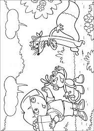 Kleurplaat Dora Boots En Zwieber Dora