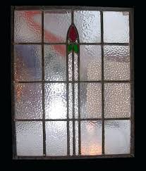 stained glass antique stain glass windows pair of stained with stylized tulips vintage value