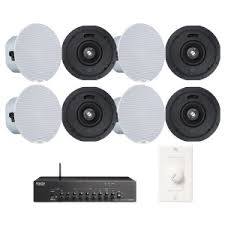 sound system with wireless speakers. quick look office sound system wireless bluetooth music streaming with 8 denon dn-104s ceiling speakers and s