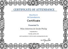 Attendance Award Template Certificate Template User Free Resume Examples Samples