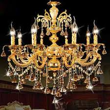 modern gold color led crystal chandelier for living room bedroom and dining room lighting ideas lighting ceiling lights
