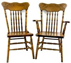 oak pressed back chairs for in boone source amish