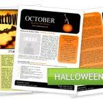 free holiday newsletter template microsoft word halloween newsletter template worddraw free holiday