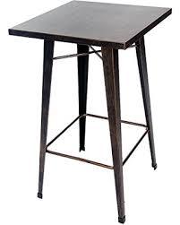 distressed metal furniture. Unique Metal Merax Rectangular Distressed Metal Bar Table Pub Table 39Inch High  Golden Black In Furniture