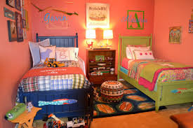 Decorating Room With Posters Eye Catching Boys And Girls Shared Bedroom Idea With Lovely Blue