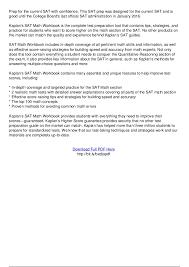 kaplan sat math workbook pdf