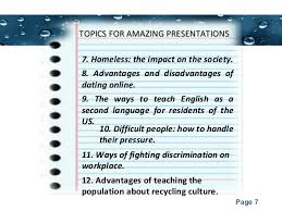 presentation topics for college students 7