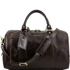travel leather duffle bag small size