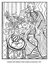 71 Coloriages Dœuvres Dartistes Peintres à Imprimer Matisse